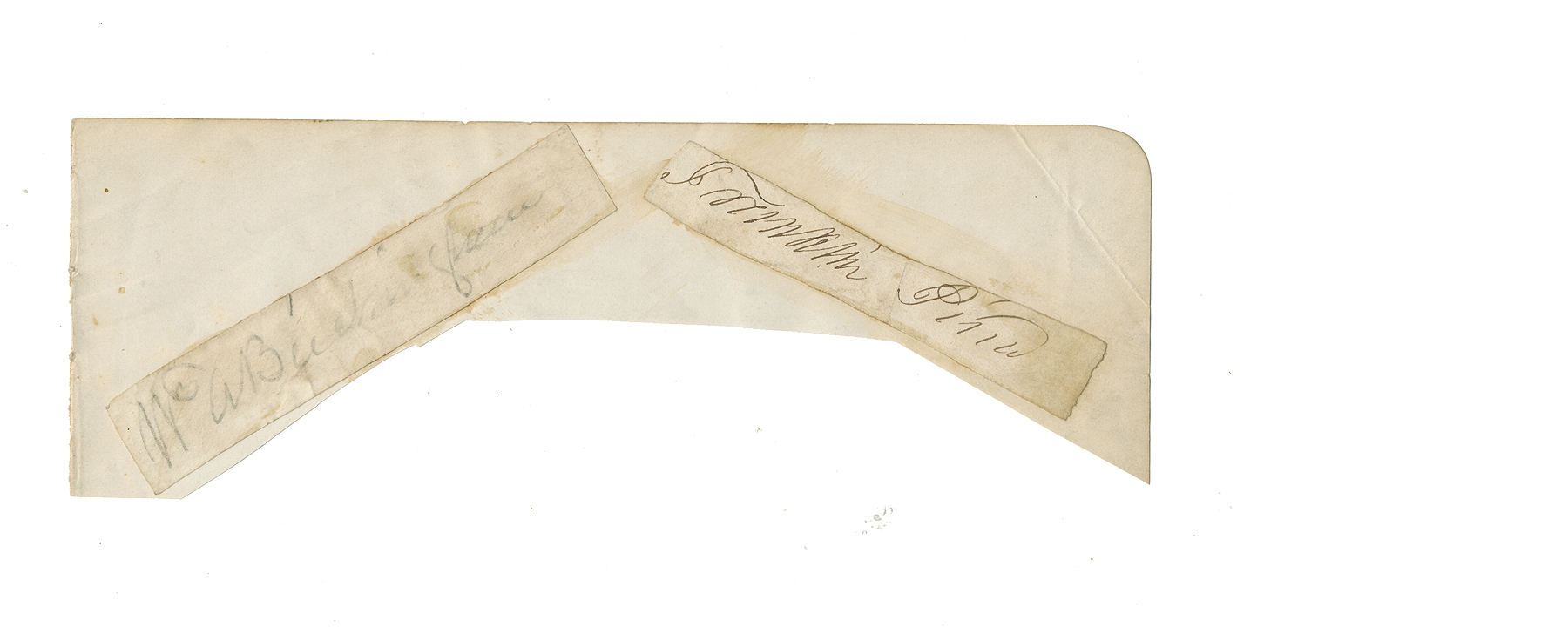 CLIPPED SIGNATURES OF A PRESIDENT AND A GOVERNOR