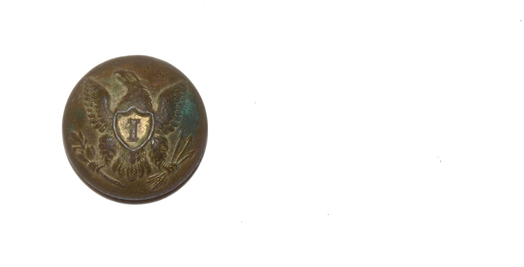 "U.S. INFANTRY ""I"" COAT BUTTON - RECOVERED FROM GETTYSBURG"