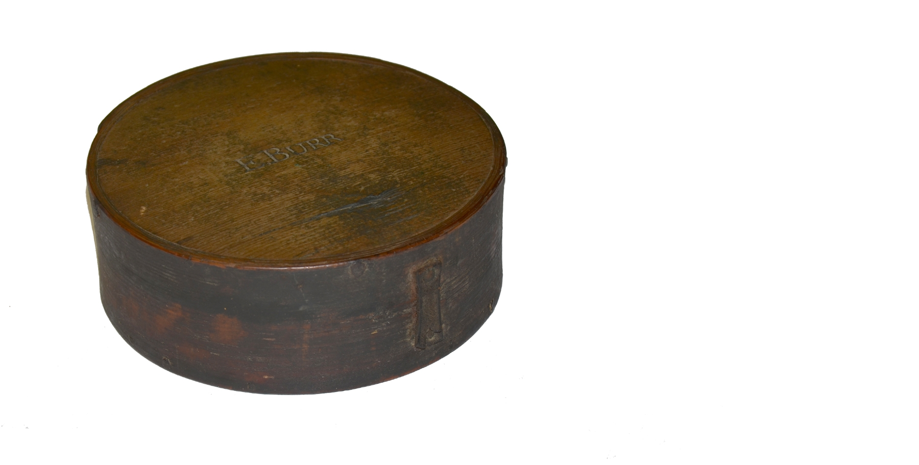 EARLY 19TH CENTURY WOODEN MILITIA CANTEEN WITH NAME