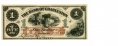 THE BANK OF CHARLESTON, VIRGINIA $1 NOTE