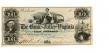 THE BANK OF THE VALLEY IN VIRGINIA $10 NOTE