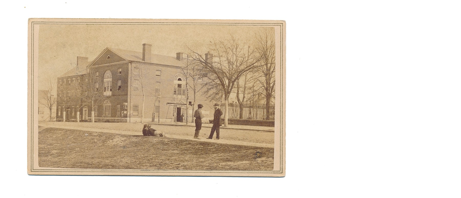 OUTDOOR CDV VIEW OF OLD CAPITOL PRISON BY BRADY