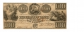 MECHANICS' BANK, AUGUSTA, GA $100 NOTE