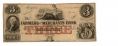 FARMERS' AND MERCHANTS BANK OF MEMPHIS $3 NOTE