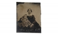 SIXTH PLATE AMBROTYPE OF WOMAN HOLDING CHILD