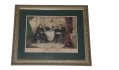 "FRAMED ""LINCOLN AT HOME"" LITHOGRAPH"