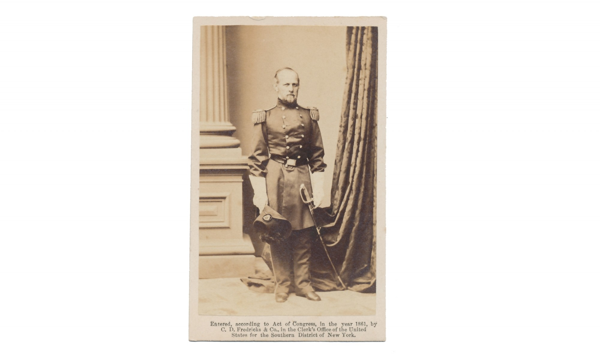 FULL STANDING CDV OF MAJOR GENERAL DON CARLOS BUELL