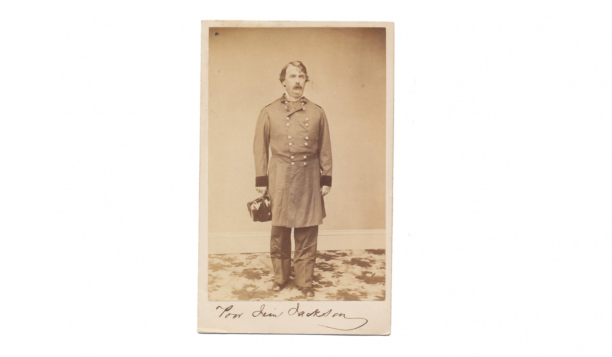FULL STANDING CDV OF GENERAL JAMES S. JACKSON KILLED AT PERRYVILLE
