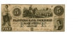 THE PLANTERS BANK OF FAIRFIELD, SOUTH CAROLINA $5 NOTE