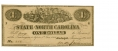 THE STATE OF NORTH CAROLINA $1 NOTE