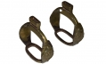 PAIR OF MEXICAN WAR OFFICER'S STIRRUPS