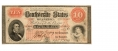 THE CONFEDERATE STATES OF AMERICA $10 NOTE