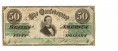 THE CONFEDERATE STATES OF AMERICA $50 NOTE