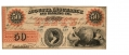 THE AUGUSTA INSURANCE AND BANKING CO., STATE OF GEORGIA, $50 NOTE