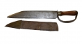 MAGNIFICENT D-GUARD BOWIE KNIFE WITH SHEATH, 1850s/60s