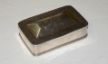"COIN SILVER DESK BOX MARKED ""WM. CALDWELL / LAKE GEORGE"""