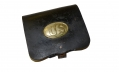 US MODEL 1864 INFANTRY CARTRIDGE BOX WITH REPRODUCTION PLATE