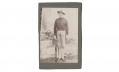 WONDERFUL 1890'S CABINET CARD PHOTO OF 16TH INFANTRY SOLDIER