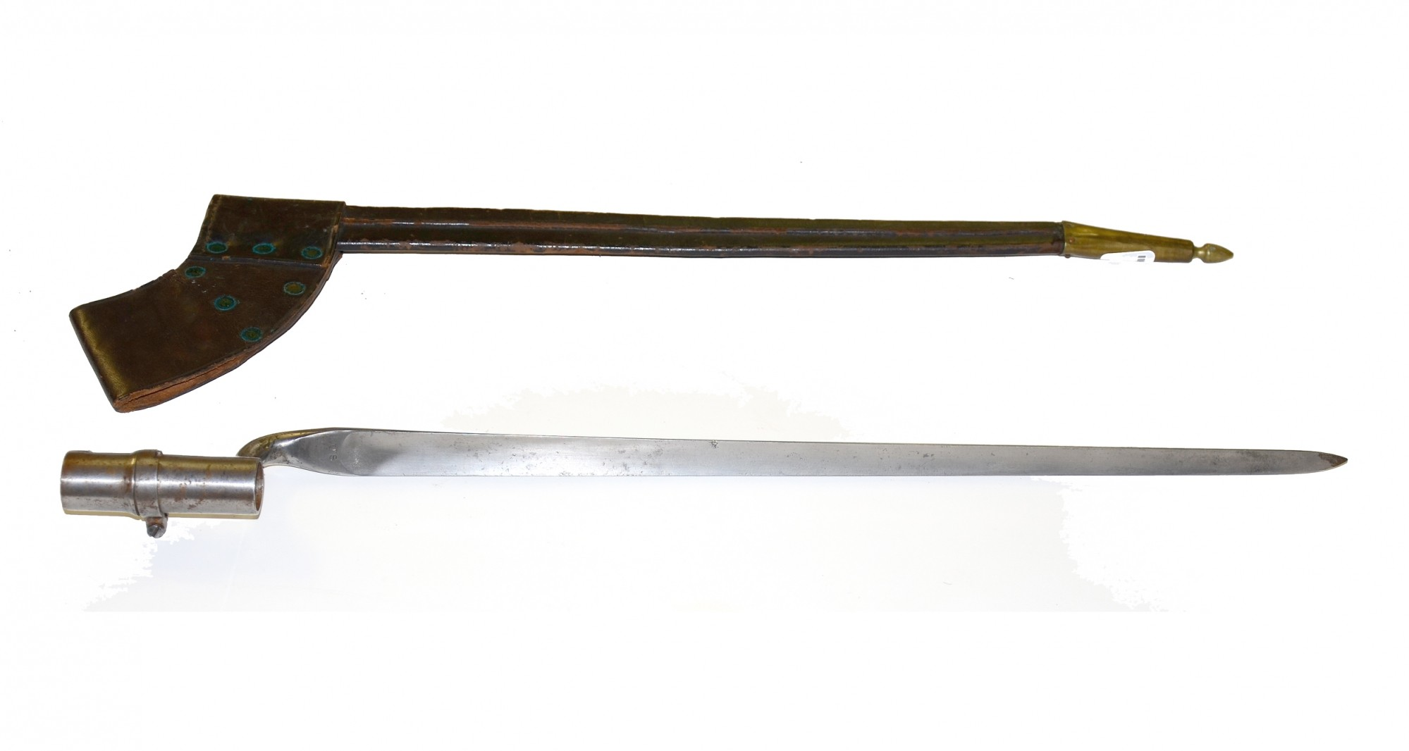 U.S. M-1855 SPRINGFIELD SOCKET BAYONET WITH SCABBARD