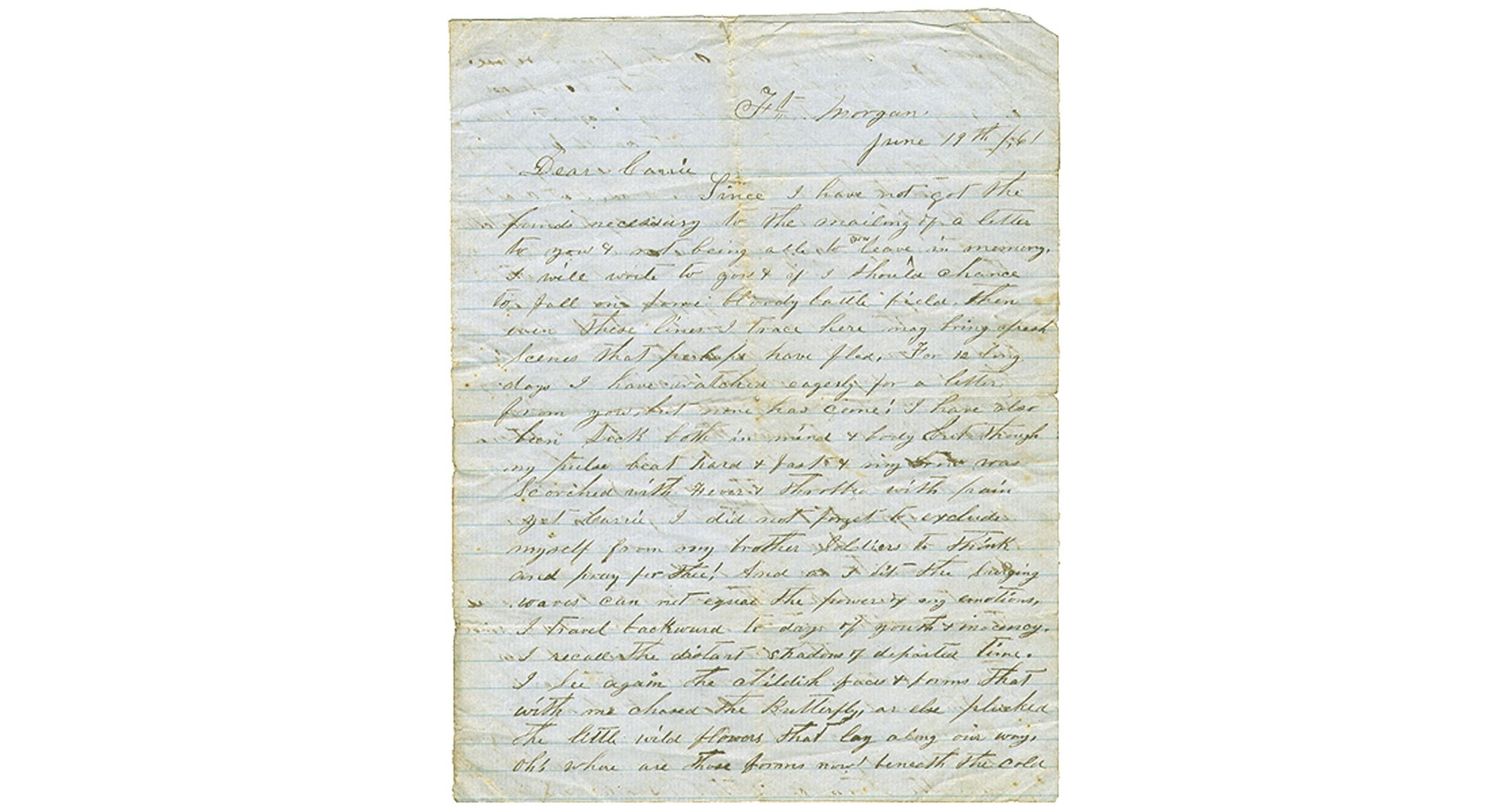 CONFEDERATE SOLDIER LETTER – HIRAM HOLT, 34TH ALABAMA