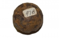 IRON BALL FROM 12-PDR. CANISTER RECOVERED AT GETTYSBURG