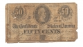 SOUVENIR CONFEDERATE FIFTY-CENT NOTE