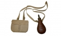 "M1844 US ""PEACE"" POWDER FLASK WITH REPRODUCTION RIFLEMAN POUCH & SLING"