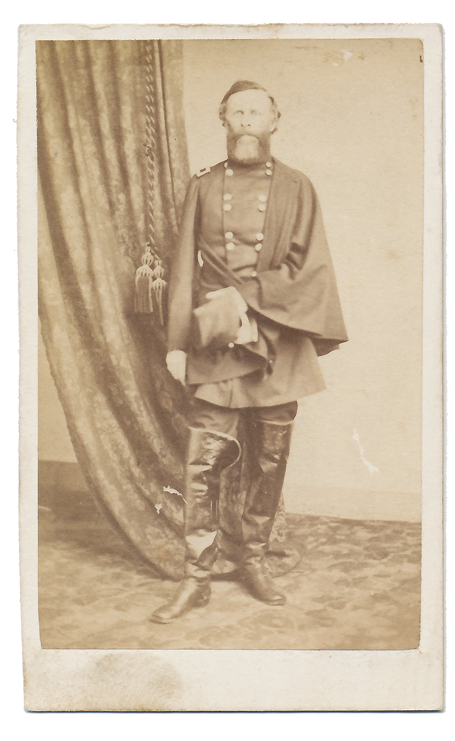 FULL STANDING CDV OF GENERAL PHILIP ST. GEORGE COOKE - JEB STUART'S FATHER-IN-LAW