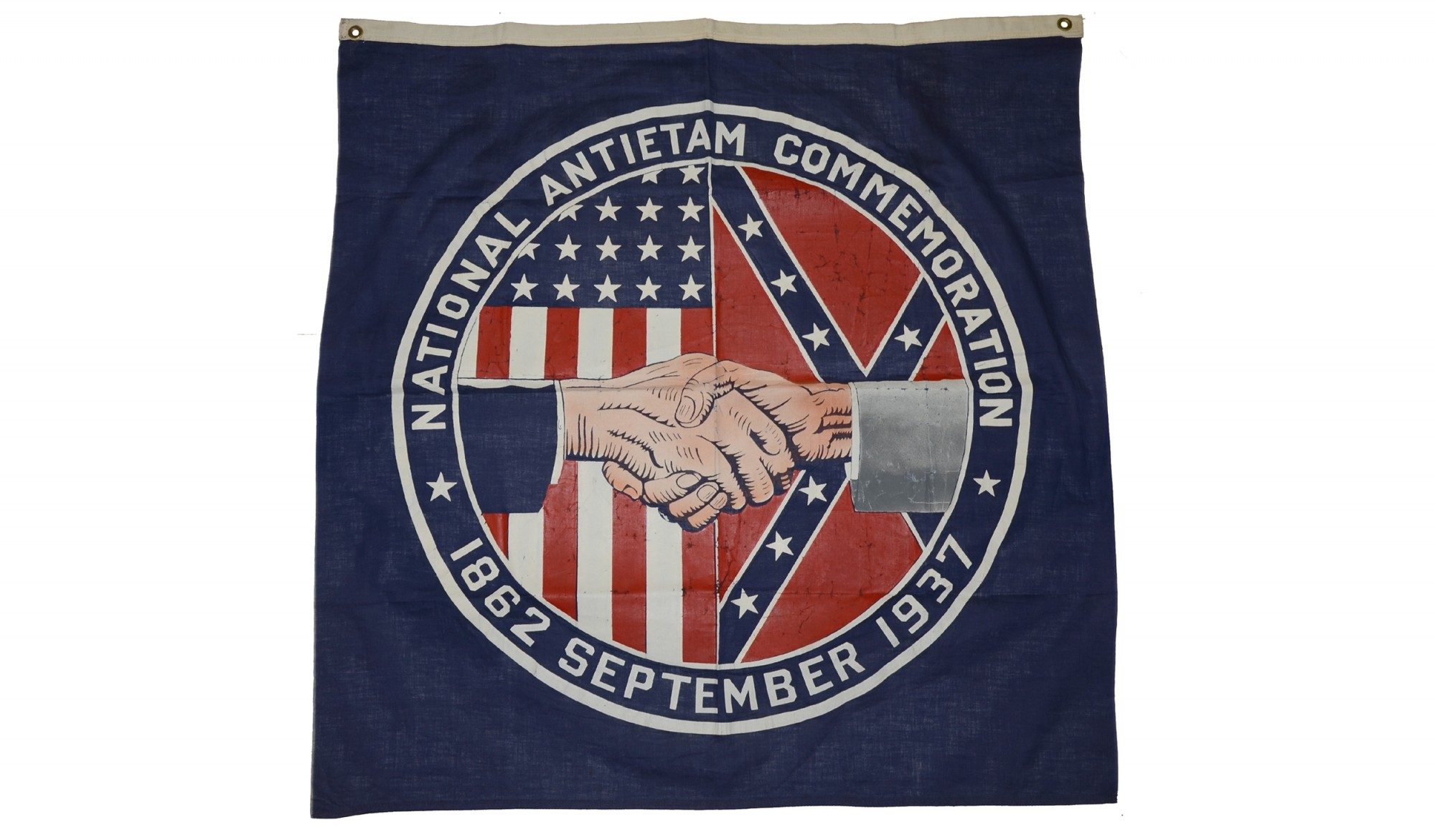 WONDERFUL LARGE BANNER FROM THE NATIONAL ANTIETAM CELEBRATION OF 1937