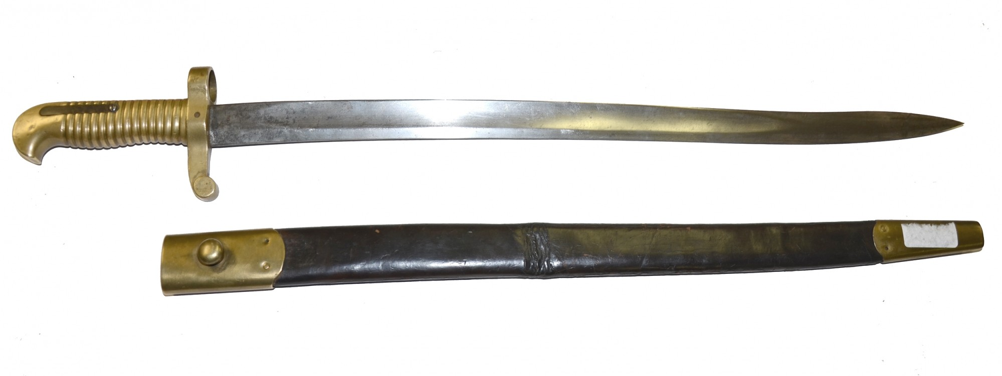 SABER BAYONET FOR ALTERED MODEL 1841 RIFLE OR SHARPS RIFLE WITH SCABBARD