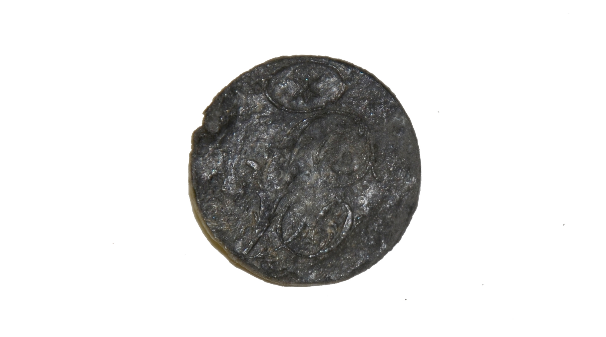 CAST PEWTER INFANTRY BUTTON, CIRCA 1812-50