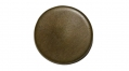 BRASS OVER PEWTER MILITIA BUTTON