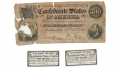$500 STONEWALL JACKSON CONFEDERATE NOTE WITH TWO BOND COUPONS