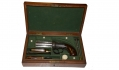 EXCEPTIONAL CASED SET WITH ENGLISH DOUBLE-ACTION BAR HAMMER PEPPERBOX REVOLVER