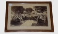 PHOTOGRAPH OF HANOVER PENNSYLVANIA GAR VETERANS IN UNIFORM WITH FLAG AND MUSKETS