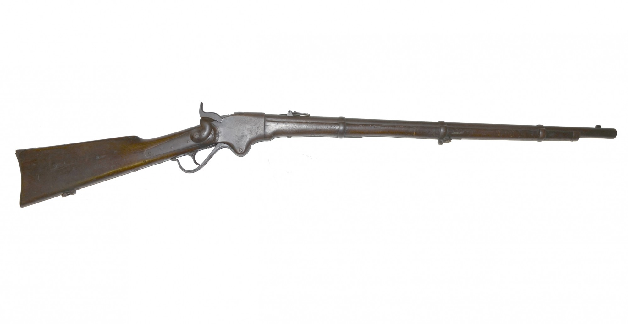 Model 1860 Spencer Rifle With Belt Amp Cartridge Box Horse