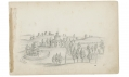 "SKETCHES IN VIRGINIA BY RICHARD HOLLAND, 9TH MASSACHUSETTS LIGHT ARTILLERY – ""MORE OF CLARK MILLS PLACE"" – OCT. 1862"