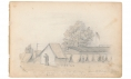 "1862 DATED FULL PAGE SKETCH OF PART OF THE CAMP OF THE 9TH MASSACHUSETTS ARTILLERY BY A MEMBER OF THE BATTERY--ARTIST RICHARD HOLLAND HOLLAND, 9TH MASSACHUSETTS LIGHT ARTILLERY – ""JAMES L. CLAPP"", SEPTEMBER 1862"