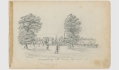 "SKETCHES IN VIRGINIA BY RICHARD HOLLAND, 9TH MASSACHUSETTS LIGHT ARTILLERY – ""BLADENSBURG TOLL HOUSE, WAHINGTON D.C."", OCTOBER 1862"