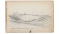 "SKETCHES IN VIRGINIA BY RICHARD HOLLAND, 9TH MASSACHUSETTS LIGHT ARTILLERY – ""UPTON'S HILL AND FORT RAMSAY"" – JAN., 1863"