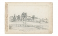 SKETCHES IN VIRGINIA BY RICHARD HOLLAND, 9TH MASSACHUSETTS LIGHT ARTILLERY – RESIDENCE OF CLARK MILLS, ESQ. - 1862