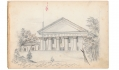 1862 FULL PAGE SKETCH OF ARLINGTON HOUSE FROM 9TH MASSACHUSETTS BATTERY ARTIST RICHARD HOLLAND