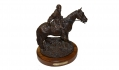 "RARE ""LEE ON HORSEBACK"" COLD CAST SCULPTURE BY RON TUNISON"