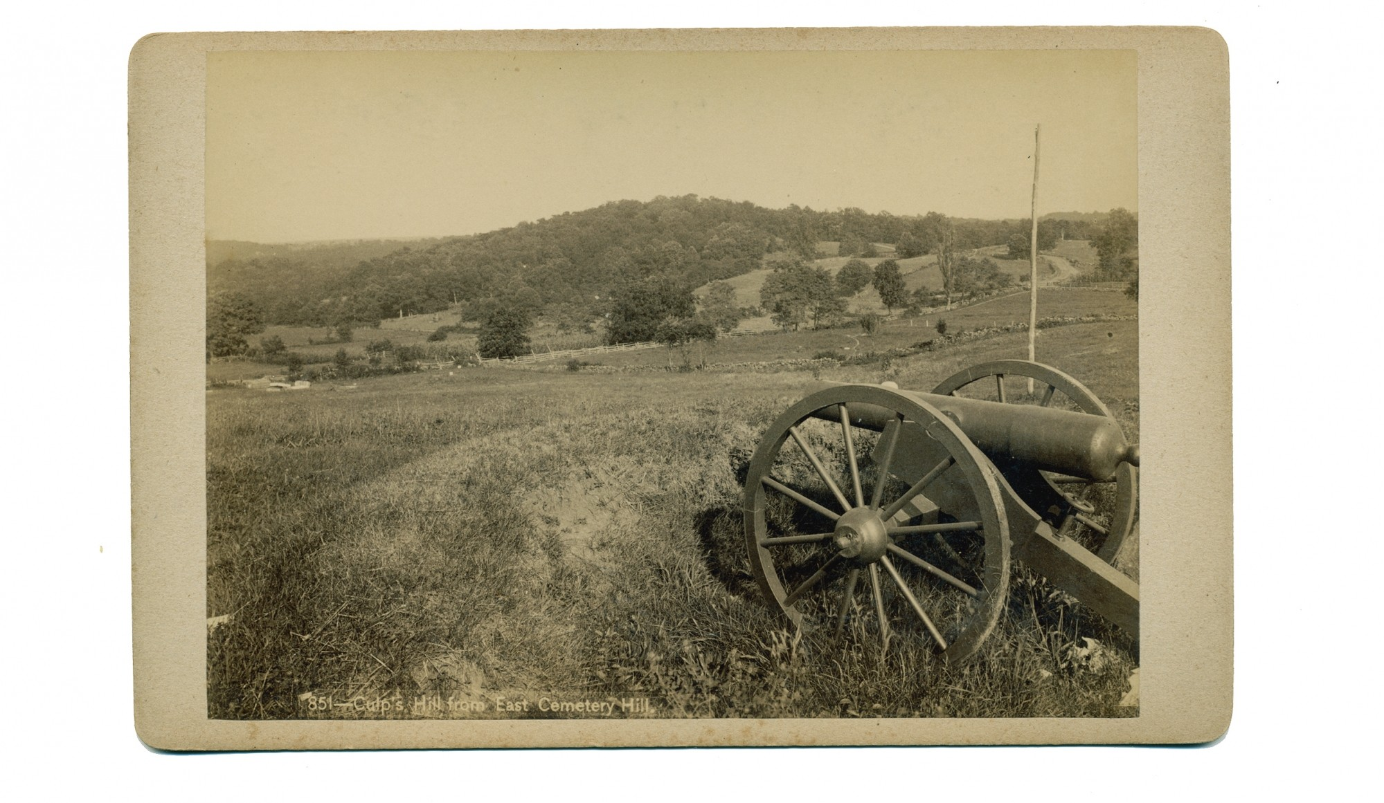 "PHOTO SHOWING CULP'S HILL FROM EAST CEMETERY HILL, ""TIPTON'S CANTEEN SERIES"""
