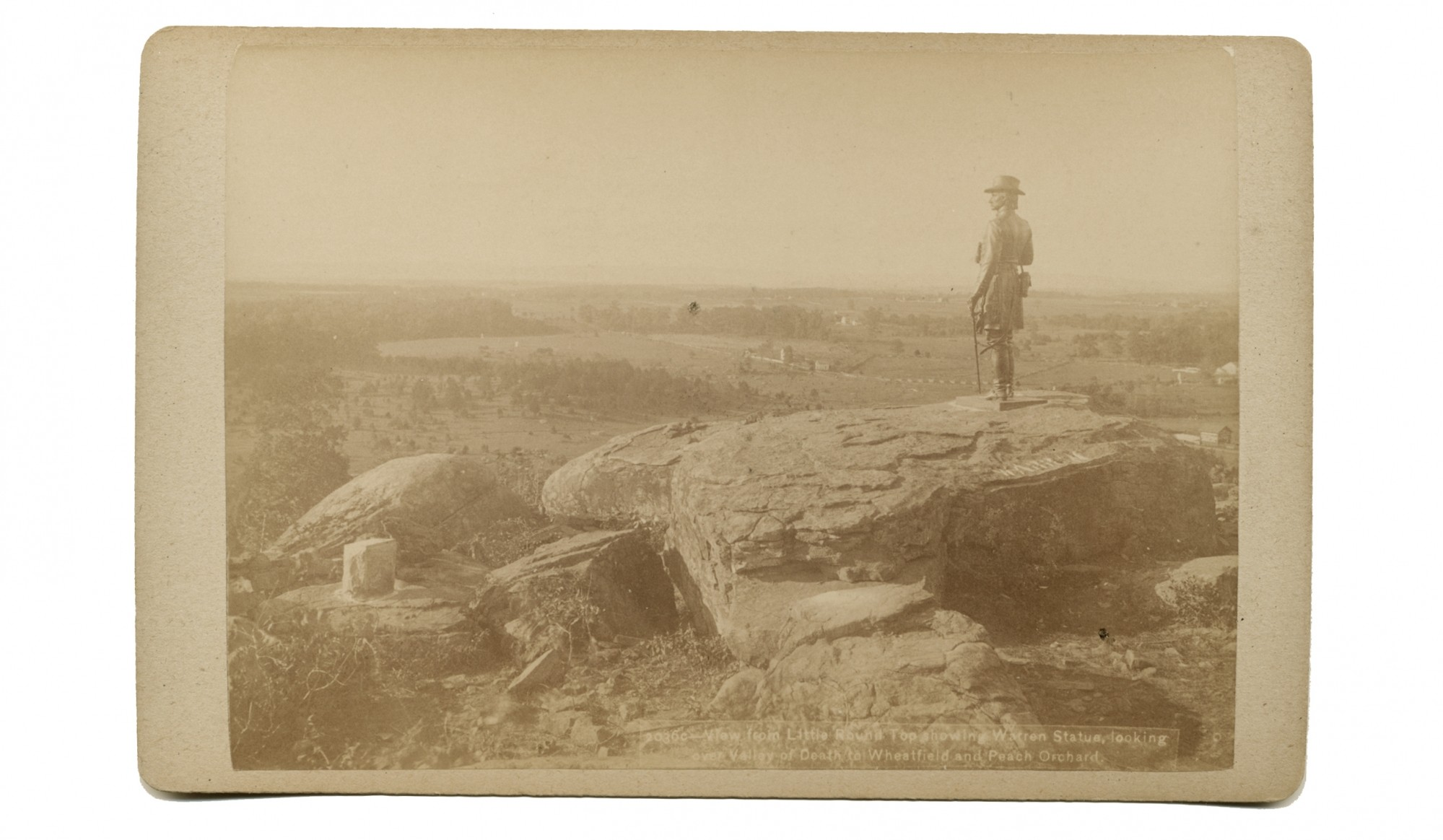 "PHOTO FROM LRT TOWARD THE WHEATFIELD AT GETTYSBURG, ""TIPTON'S CANTEEN SERIES"""
