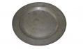 GEORGE III PEWTER PLATE WITH HALLMARKS