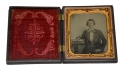 1/6 PLATE TINTYPE IN THERMOPLASTIC CASE