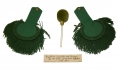 IDENTIFIED PAIR OF RIFLEMAN'S EPAULETTES WITH POM-POM
