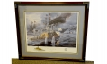 FRAMED PRINT - THE GIANT OF MOBILE BAY, CSS TENNESSEE by TOM FREEMAN