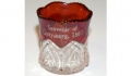 GETTYSBURG SOUVENIR RUBY GLASS TOOTHPICK HOLDER